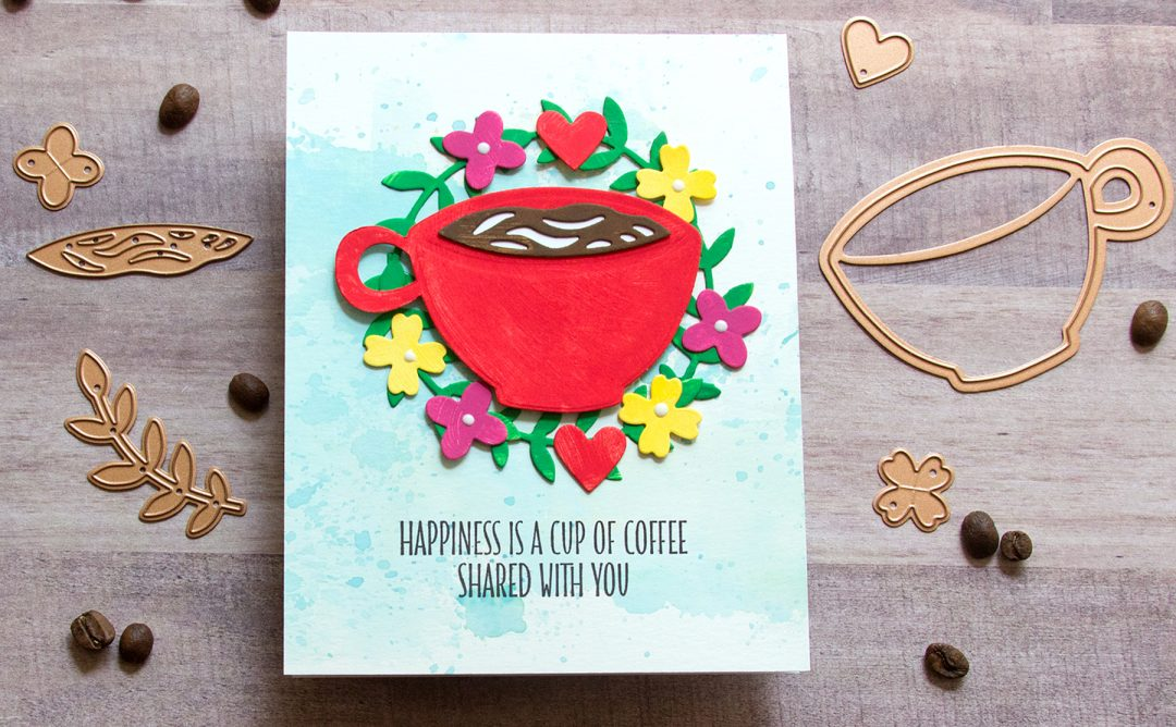 Cuppa Coffee, Cuppa Tea Inspiration | Mixed Media Friendship Card with Jean