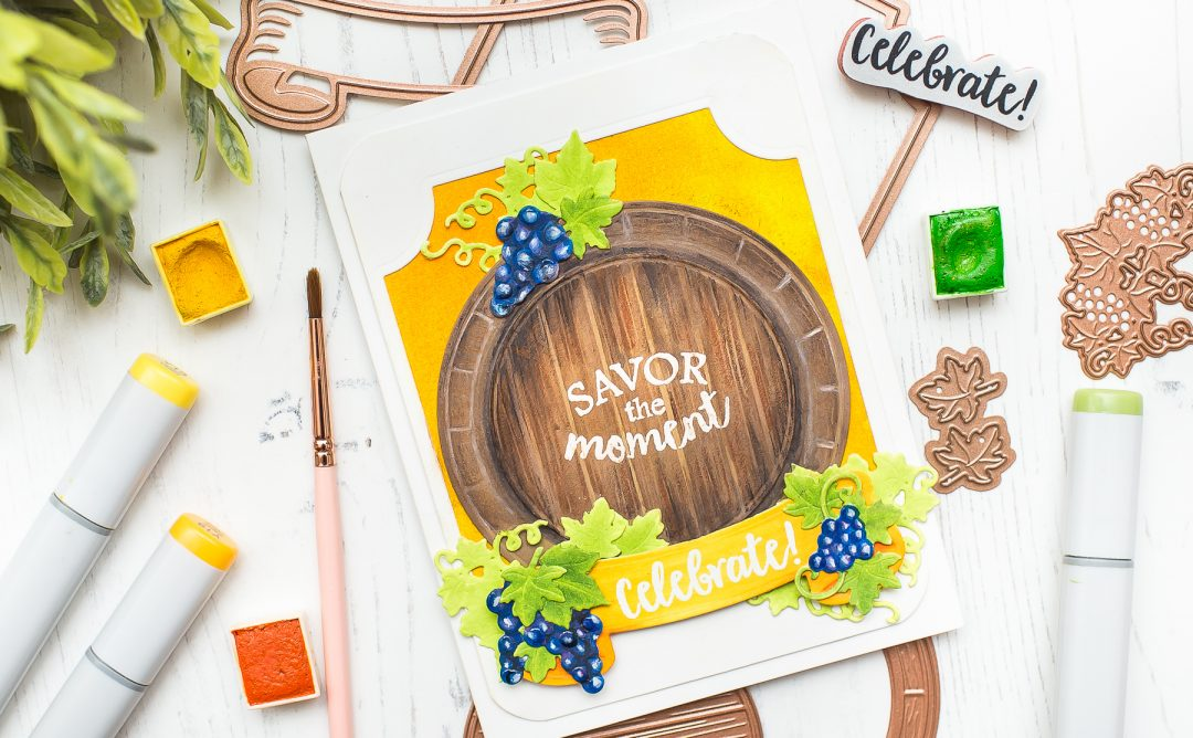 Wine Country Inspiration | Savor the Moment Card with Mona Toth
