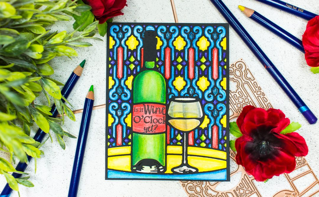 Wine Country Inspiration | Stained Glass Card with Mona Toth