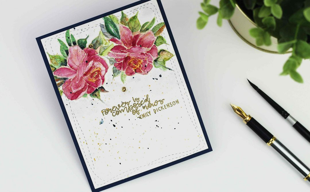 Inked Messages Inspiration | Watercolor Roses with Bibi Cameron