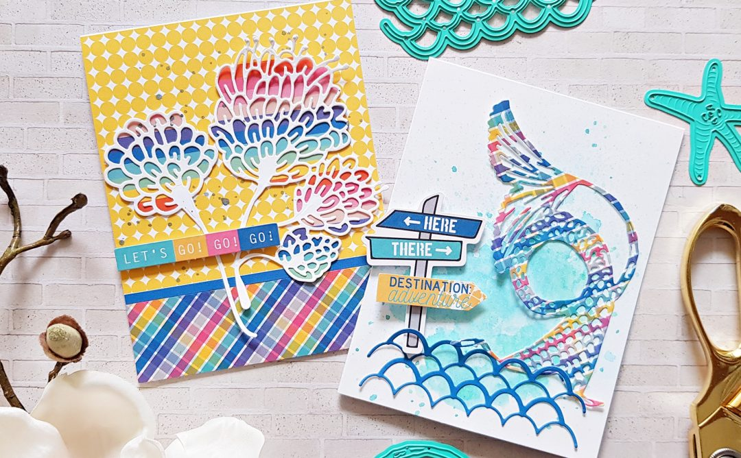 Jane Davenport Artomology | Colorful Mixed Media Cards with Zsoka Marko