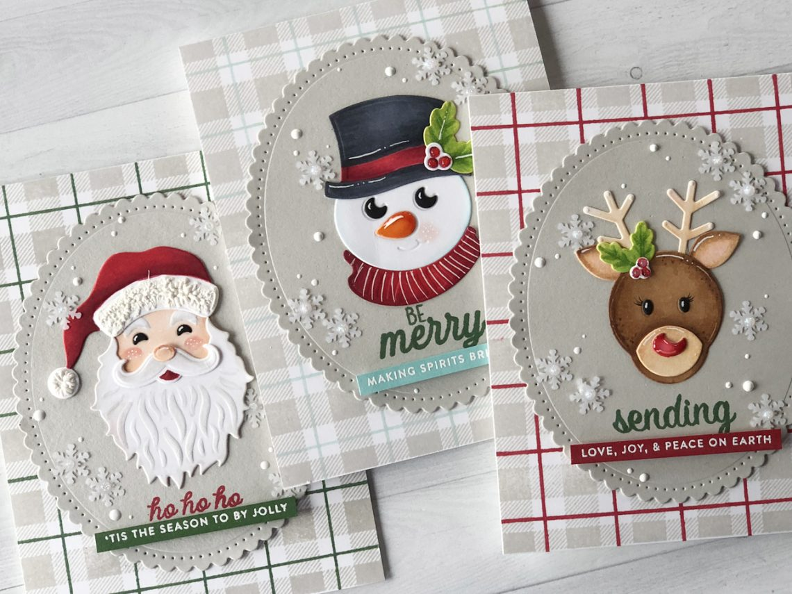 Video Friday | Copic Colored Holiday Die D-Lites with Nichol featuring S3-358 Reindeer, S3-359 Santa, S3-360 Snowman, S4-907 Fancy Edged Ovals dies #spellbinders #cardmaking #neverstopmaking