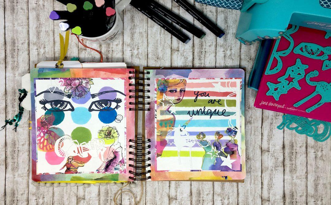 Spellbinders Jane Davenport Artomology | Journaling with Artomology Collection with Angela Tombari