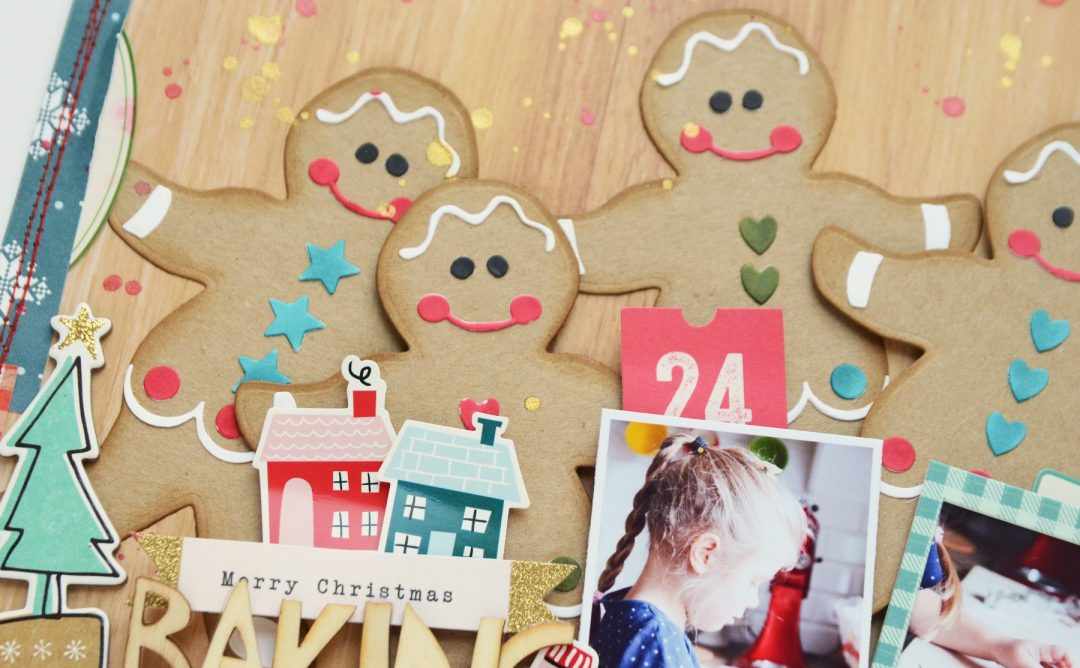 A Sweet Christmas Inspiration | Baking Cookies Layout with Anna