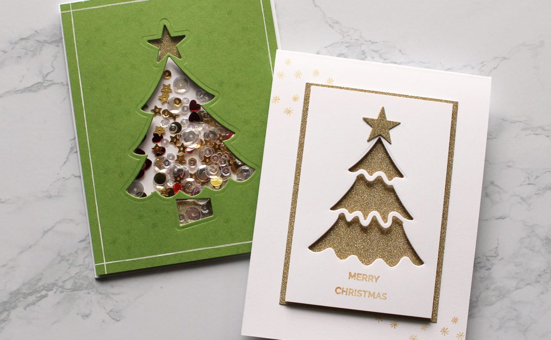 Die D-Lites Holiday Inspiration | Christmas Tree Cards with Kimberly Crawford