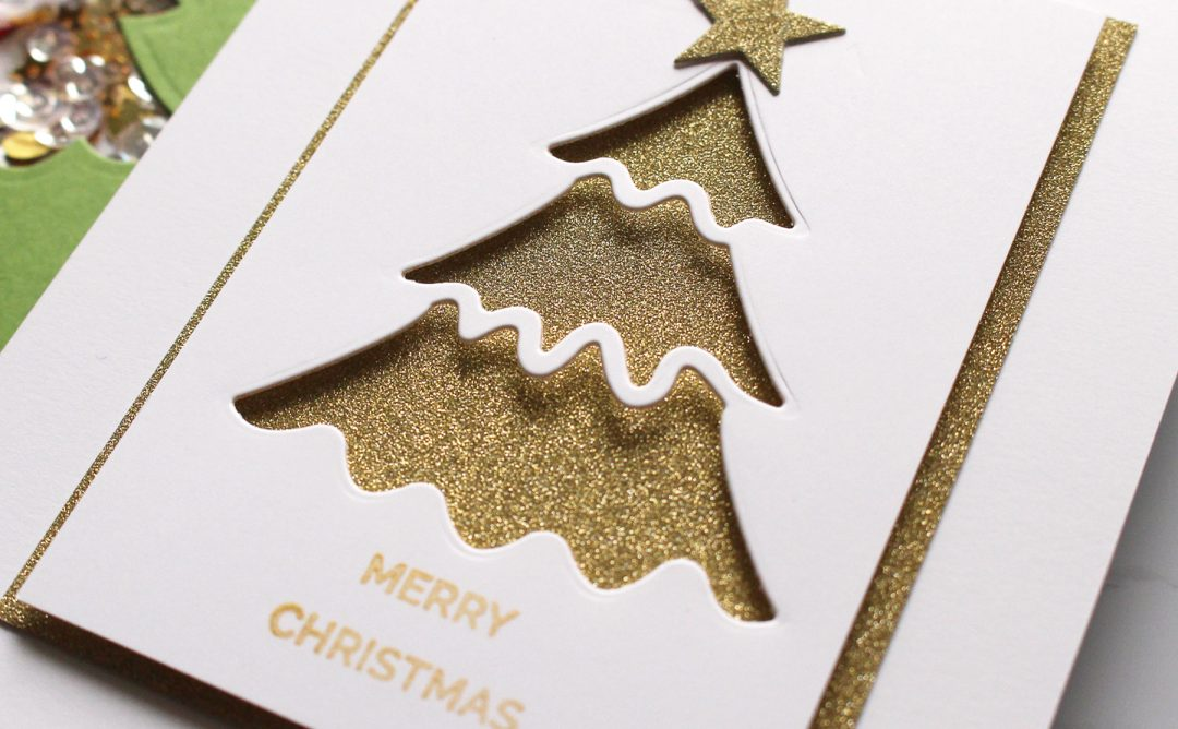 Spellbinders Die D-Lites Holiday Inspiration   Christmas Tree Cards with Kimberly Crawford featuring S3-361 Christmas Tree dies #spellbinders #neverstopmaking #diecutting