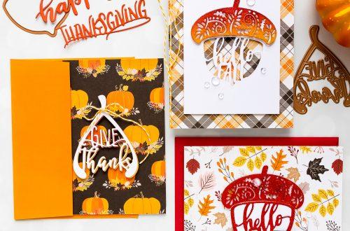 Spellbinders October Small Die of the Month is Here! #SpellbindersClubKits #NeverStopMaking #DieCutting #HandmadeCard