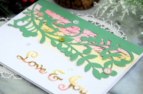 Spellbinders A Sweet Christmas Collection by Sharyn Sowell - Inspiration | Love & Joy Card with Virginia Lu #spellbinders #diecutting #neverstopmaking #sharynsowell