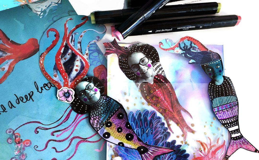 Spellbinders Jane Davenport Artomology | Fishy Friends with Courtney Diaz #janedavenport #janedavenportartomology #Artomology #spellbinders #neverstopmaking #smoothmarkers #makeitwithmichaels #washisheets