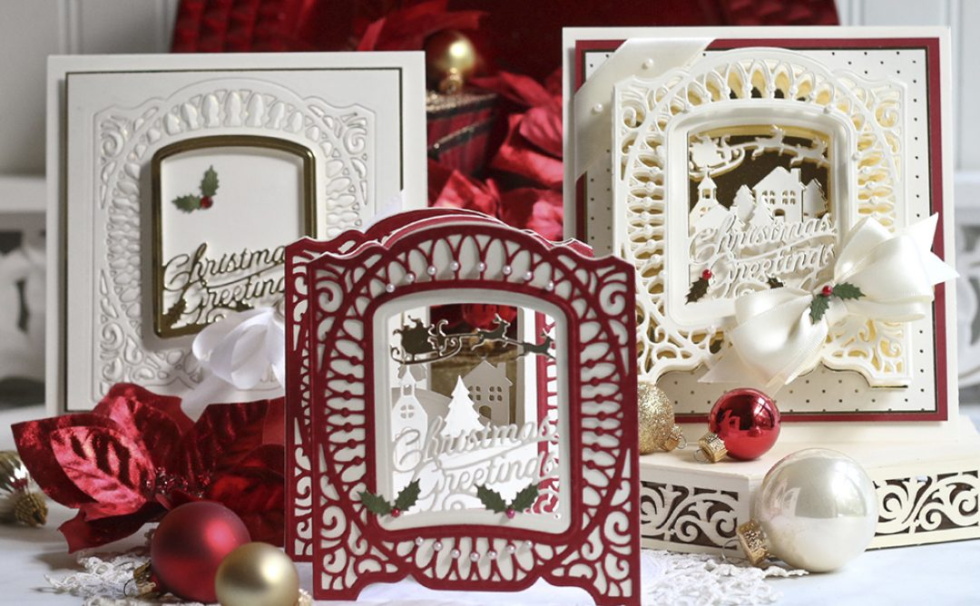 November Amazing Paper Grace Die of the Month is Here – Christmas Village Vignette Frame