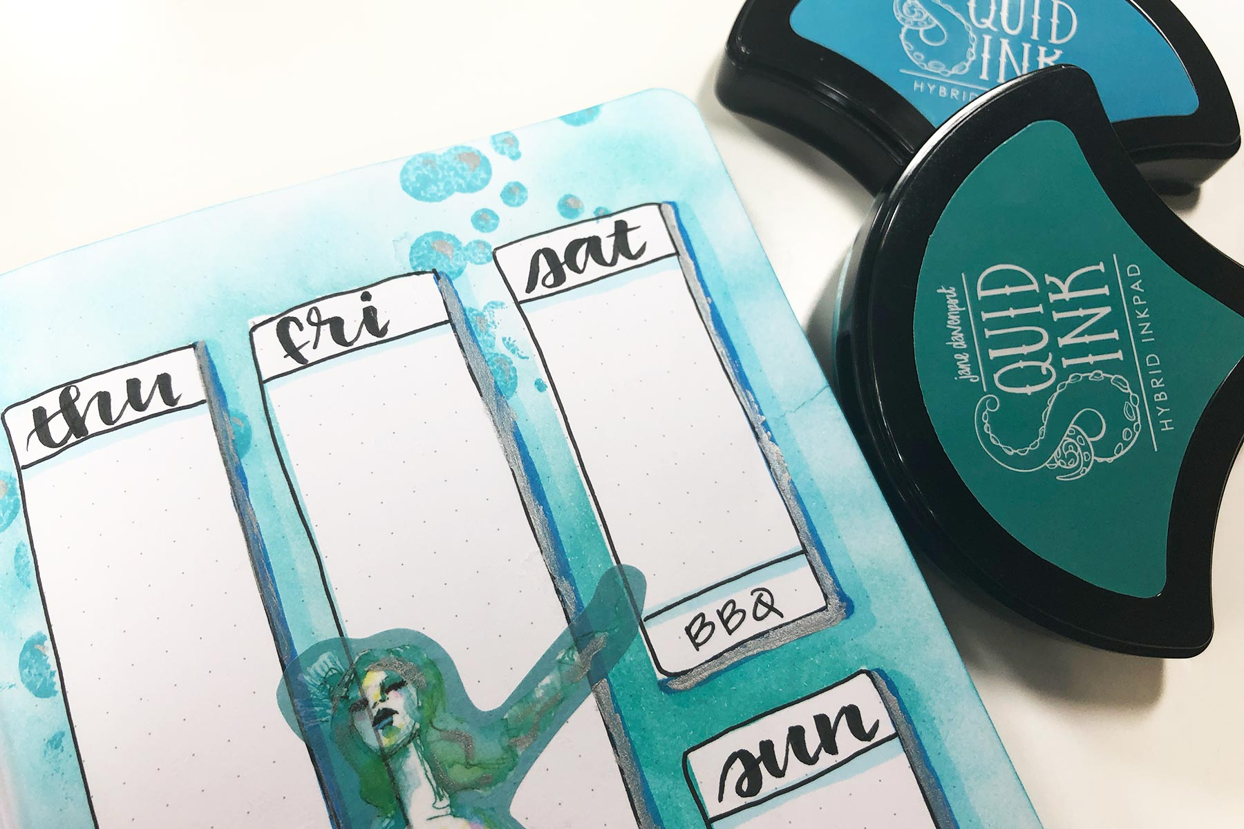 Spellbinders JD-032 Jane Davenport Squid Mermaid Eyes Hybrid Ink Pad