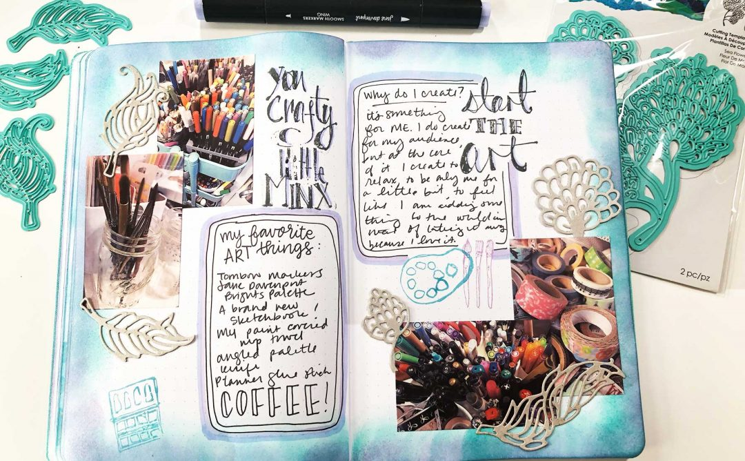 Jane Davenport Artomology | Journaling Spread with Cindy Guentert-Baldo