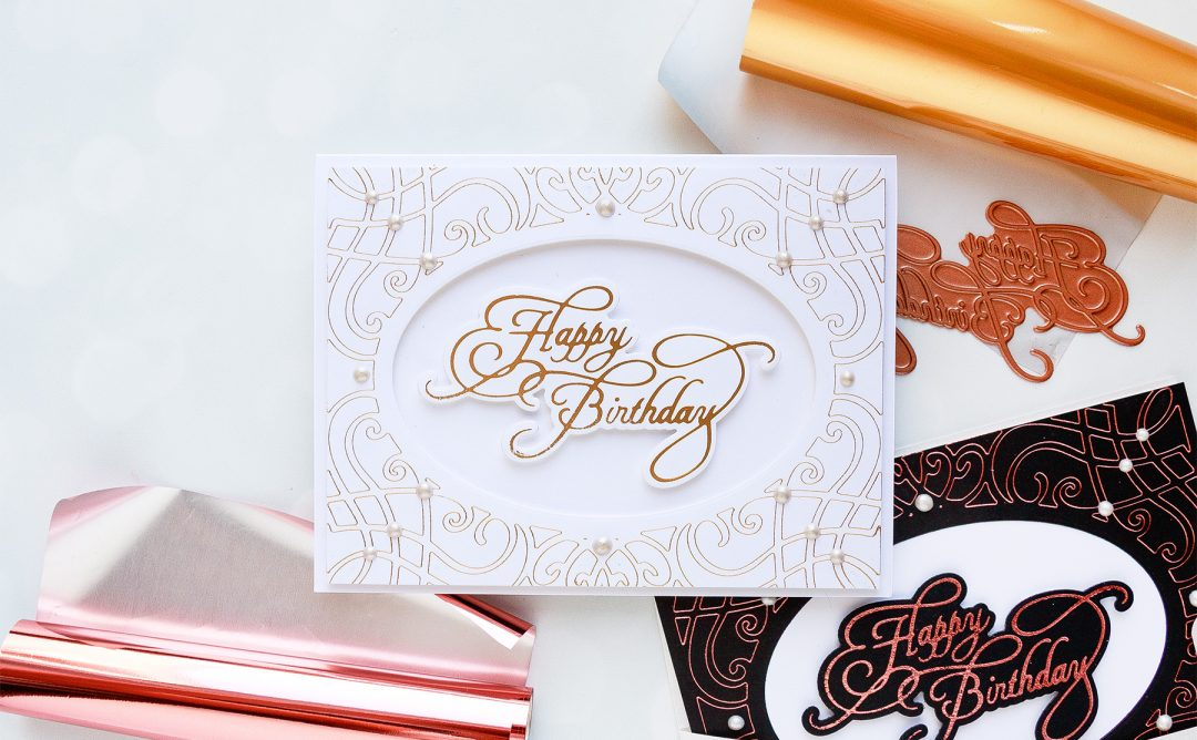 Glimmer Hot Foil System | Birthday Hot Foil Card. Video