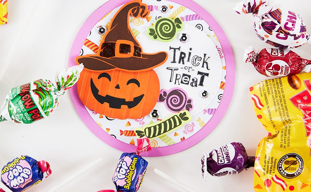 How to Make a Festive Circle-Shaped Halloween Card