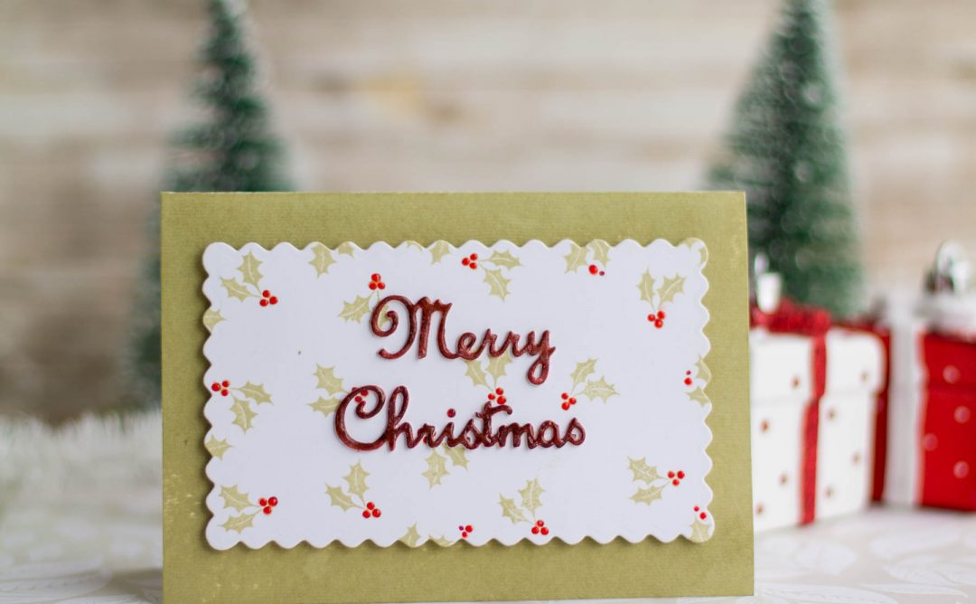 A Sweet Christmas Inspiration | A Merry Christmas Card with Elena