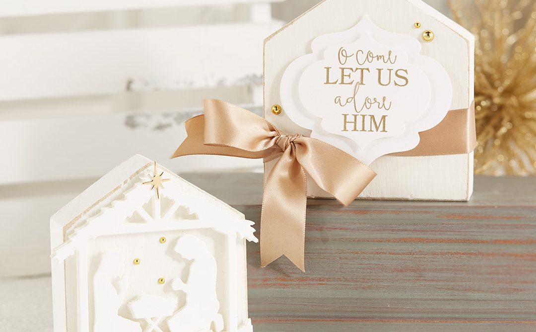 Holiday Home Decor – O Come Let Us Adore Him!