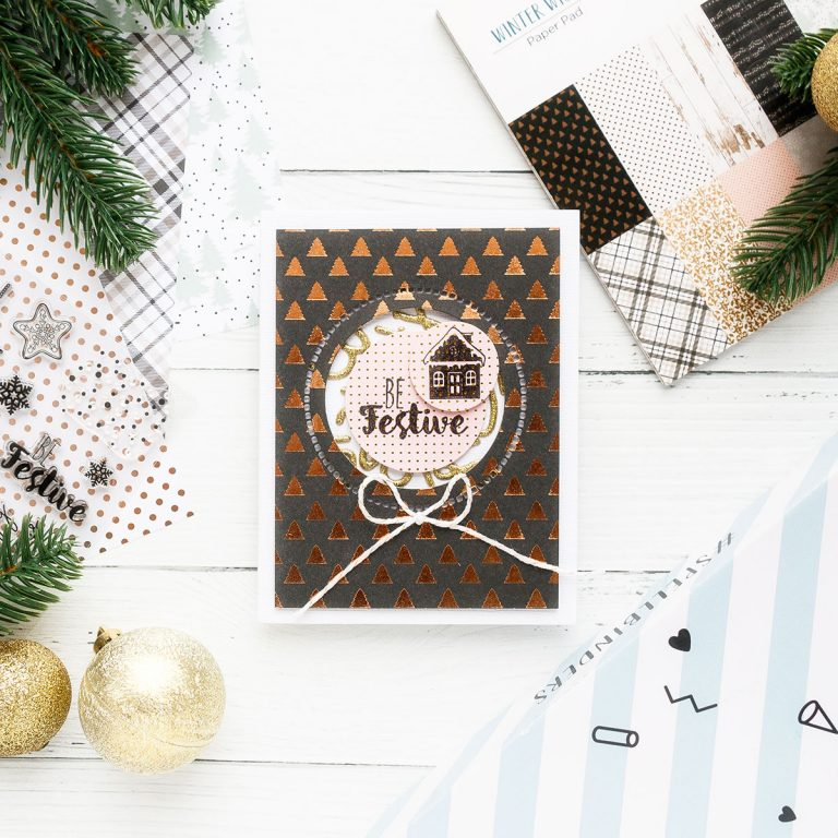 Spellbinders Card Club Kit Extras! December Edition - Be Festive Handmade Card