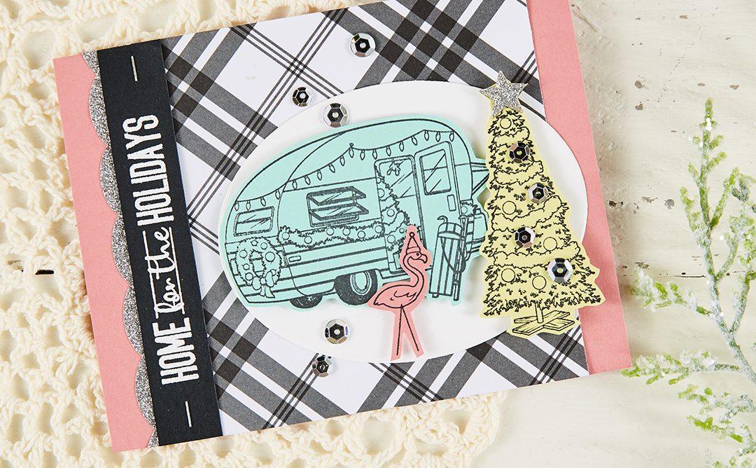 One Stamp Set, Three Ways | Retro Christmas Cards