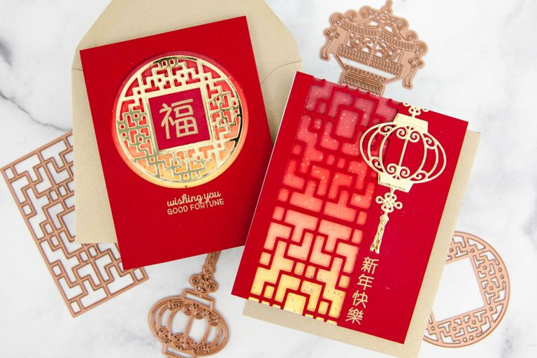 Destinations China collection by Lene Lok - Inspiration | Classic Lunar New Year Cards by Keeway Tsao for Spellbinders