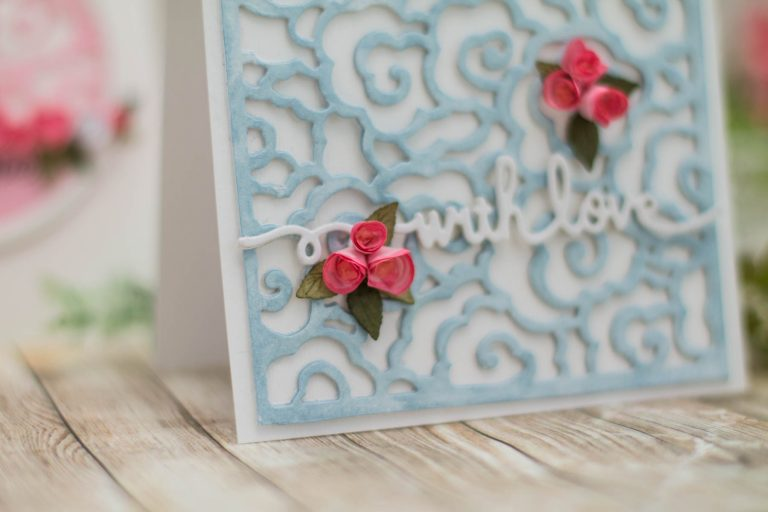 Destination China collection by Lene Lok - Inspiration | Floral Greeting Cards by Elena Salo for Spellbinders