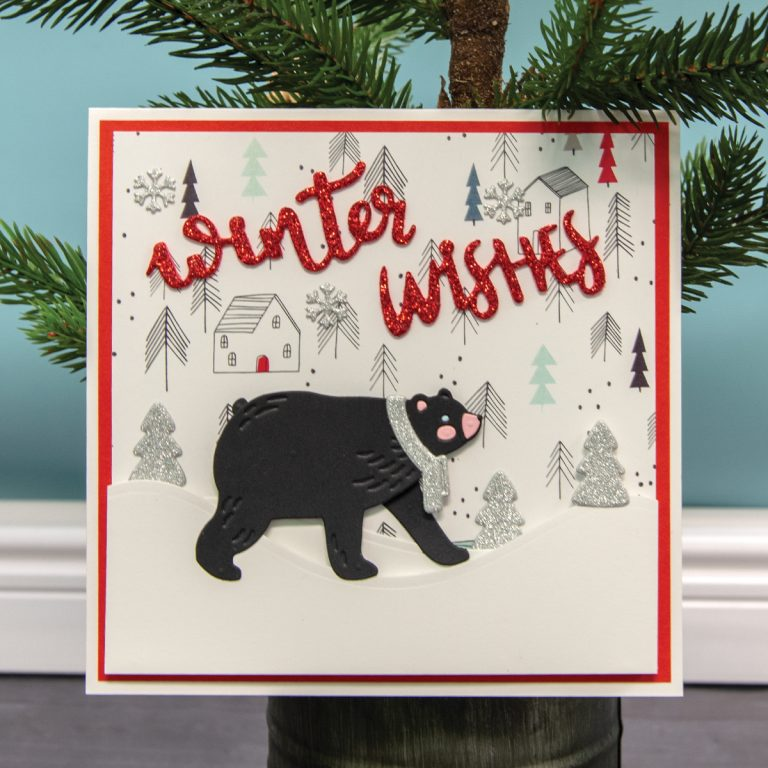 Using Just Stamps & Dies! December Winter Wishes 2018 Card Kit of the Month Edition