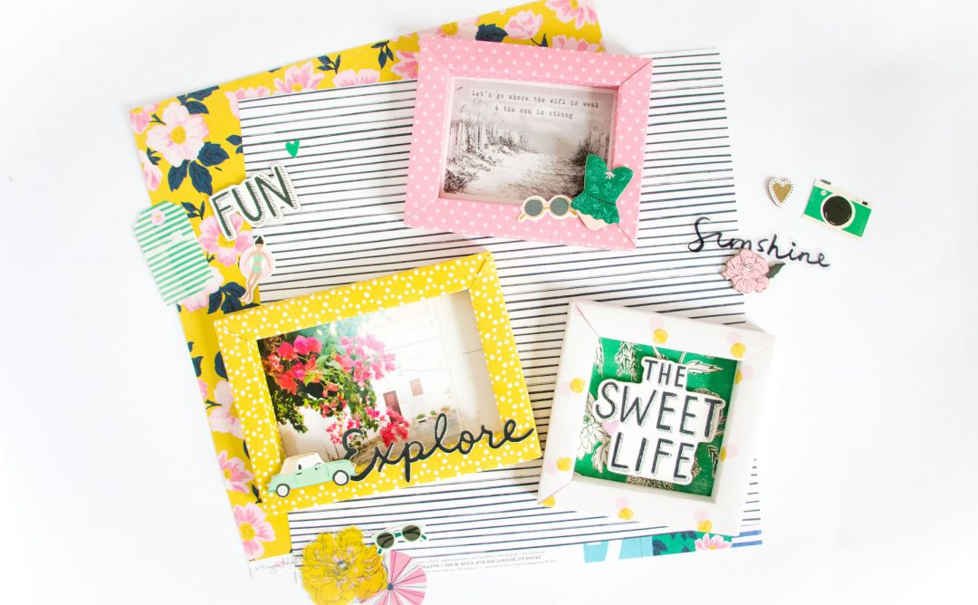 Shadowbox Collection Inspiration | Scrapbook Shadowboxes with Kathleen Graumüller
