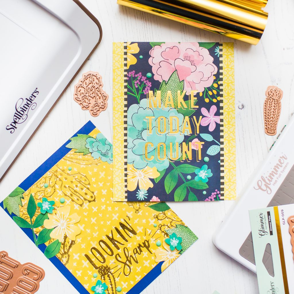 Glimmer Hot Foil Techniques & Handmade Greeting Cards With