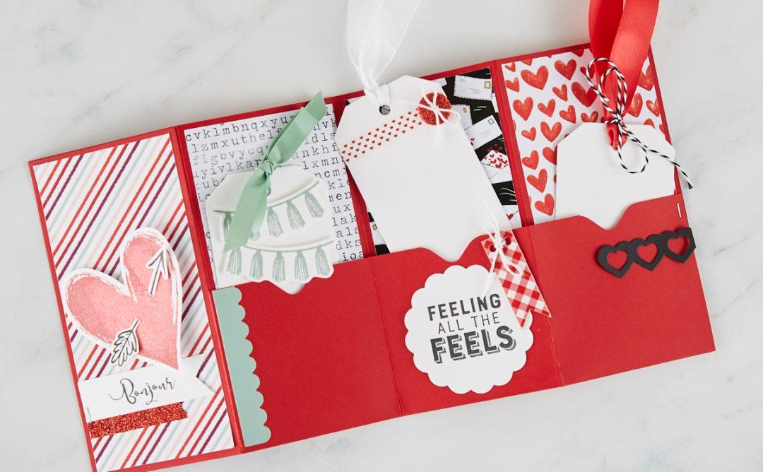 Follow Your Heart | Valentine's Pocket Card Tutorial