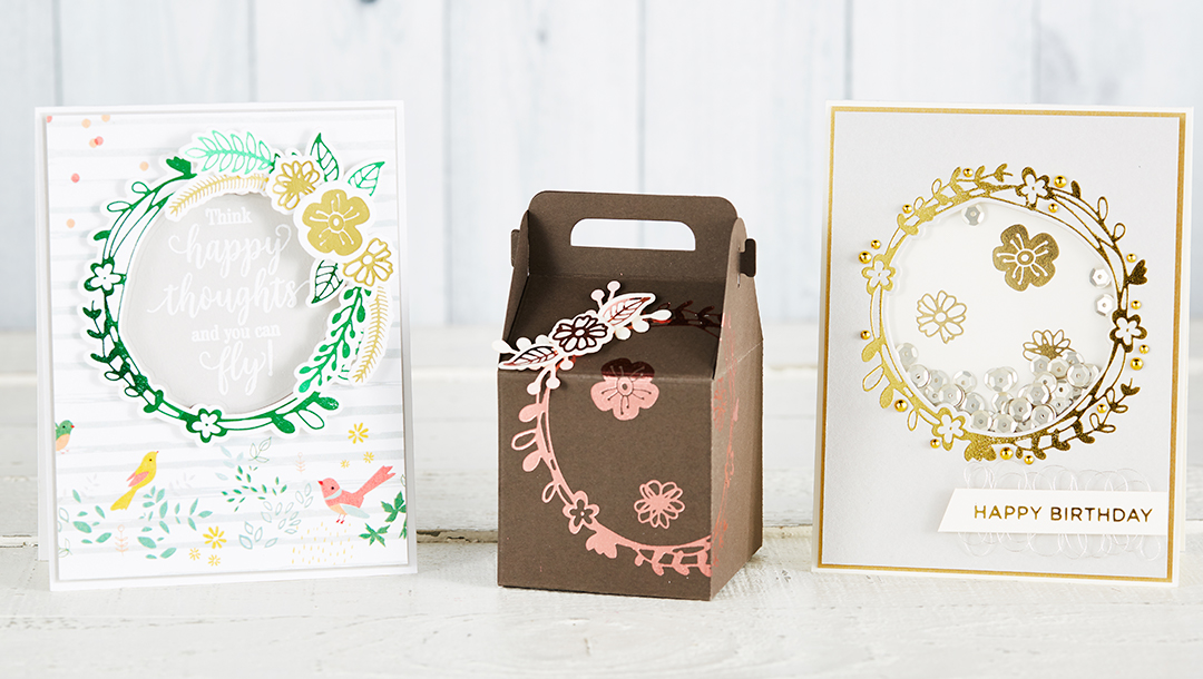 Spellbinders March 2019 Glimmer Hot Foil Kit of the Month is Here – Wreath