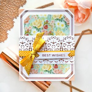 Spellbinders The Gilded Age Collection by Becca Feeken - Inspiration   Foiled Greeting Cards by Brenda Noelke