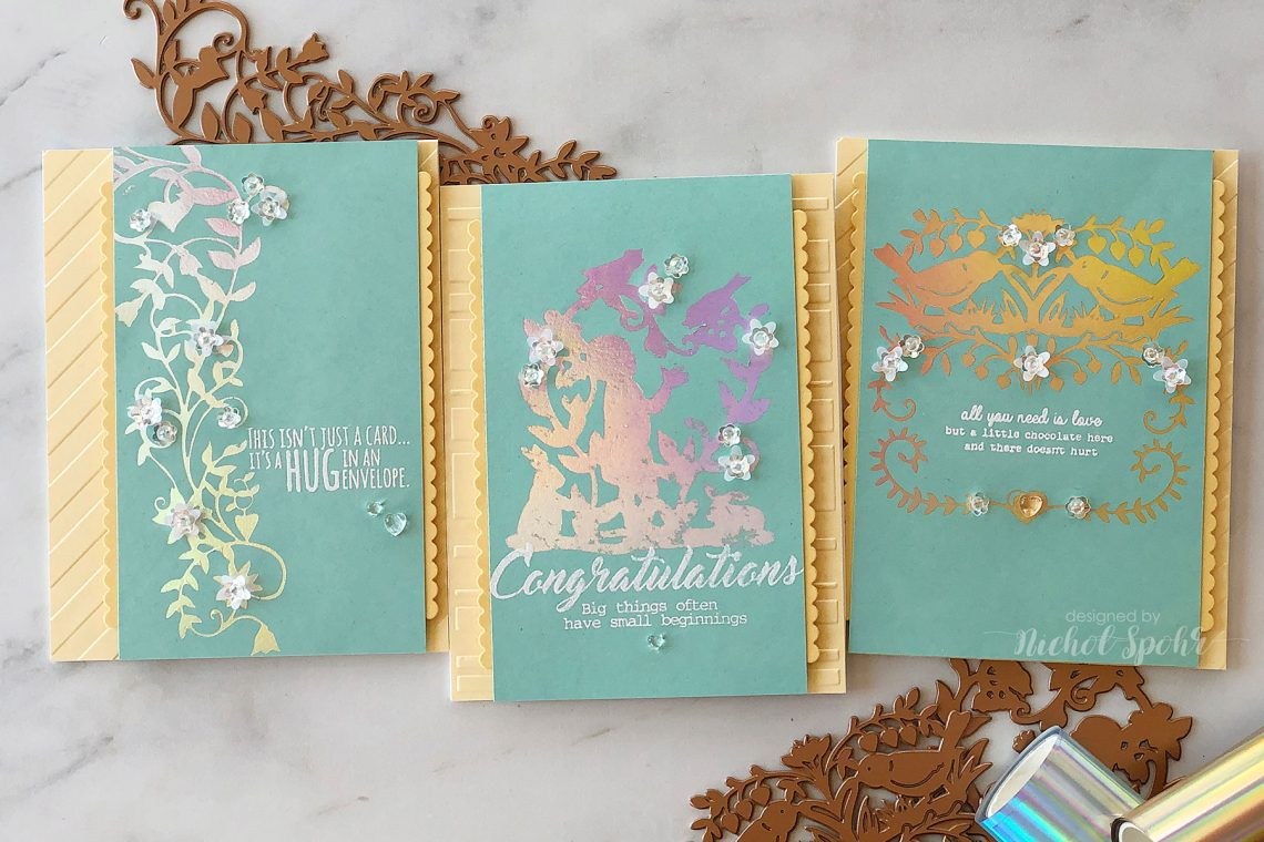 Video: Happy Collection by Sharyn Sowell - Inspiration | Elegant Glimmer Cards with Nichol Spohr