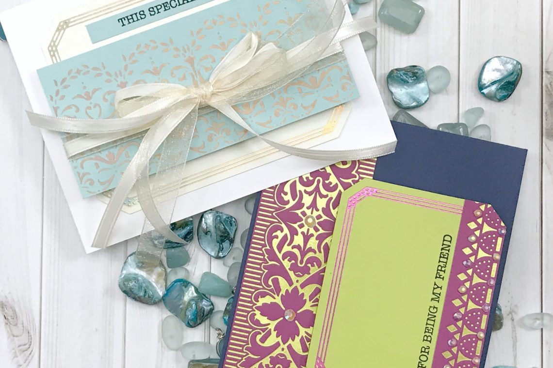 Video: The Gilded Age Collection by Becca Feeken Inspiration   Soft Victorian & Bold Regal Cards with Desiree Kuemmerle for Spellbinders