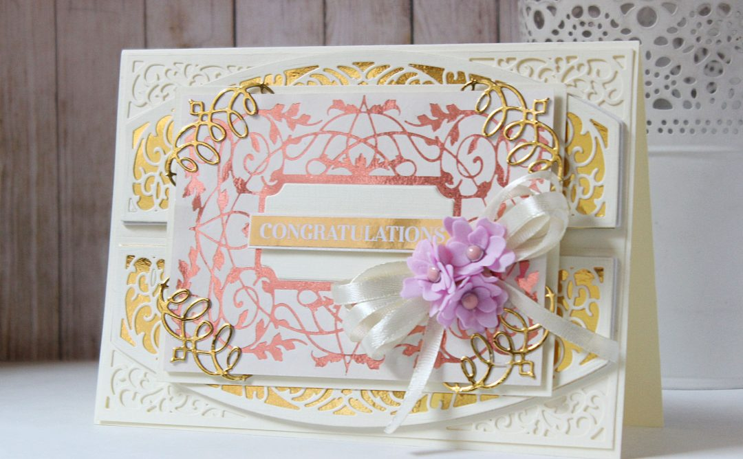 The Gilded Age Collection Inspiration | Layered Foiled Handmade Cards with Hussena