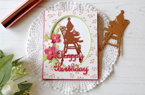 Spellbinders Happy Collection by Sharyn Sowell - Inspiration | Foiled Silhouette Cards with Melody Rupple