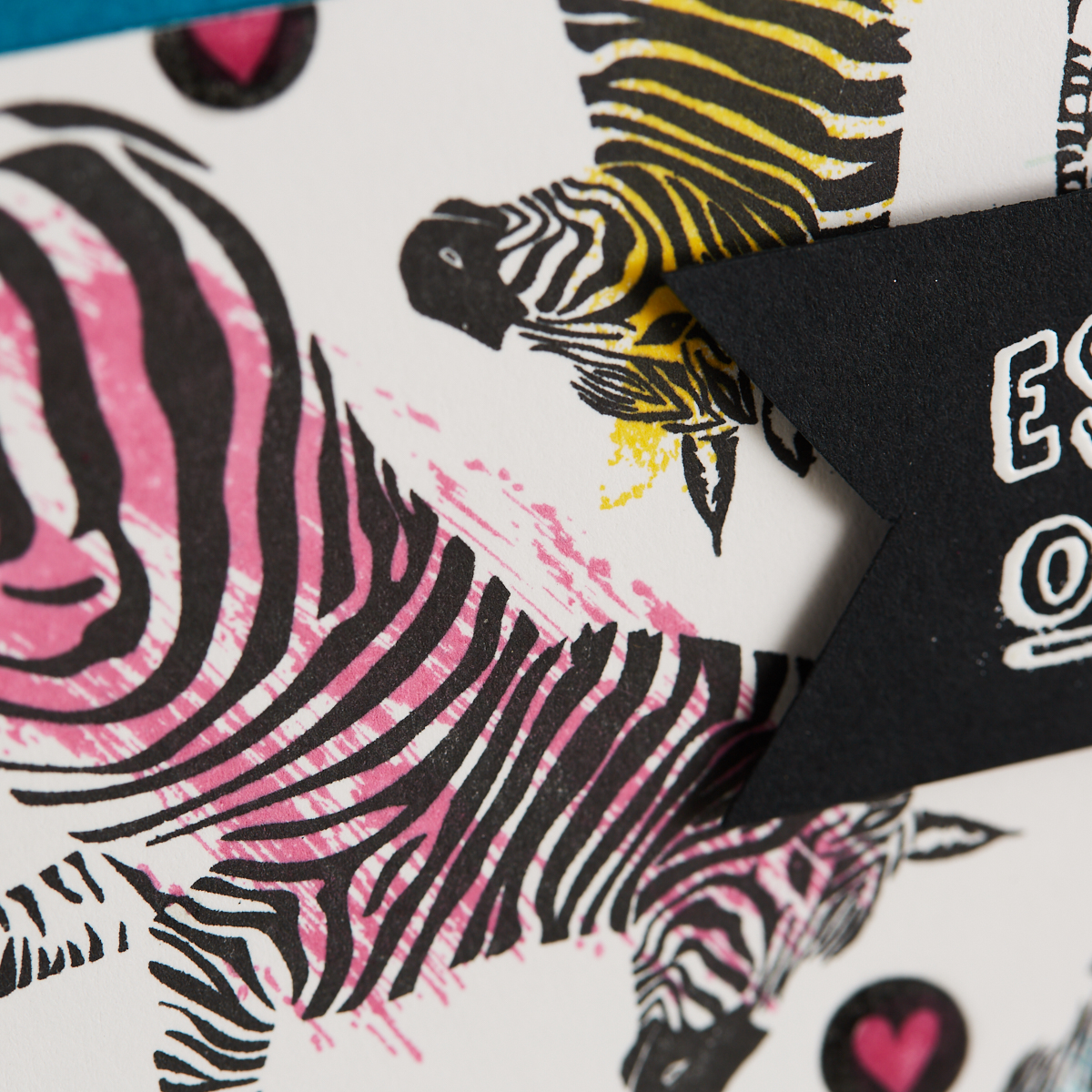 handmade card featuring Escape the Ordinary zebra rubber stamps along with Different Strokes rubber stamp set