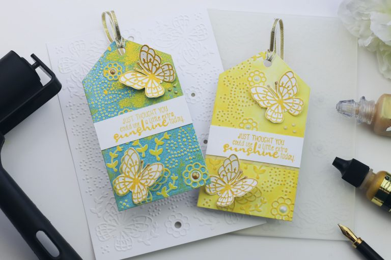 Spellbinders Cut & Emboss Folders Inspiration | Handmade Cards & Tags with Bibi Cameron