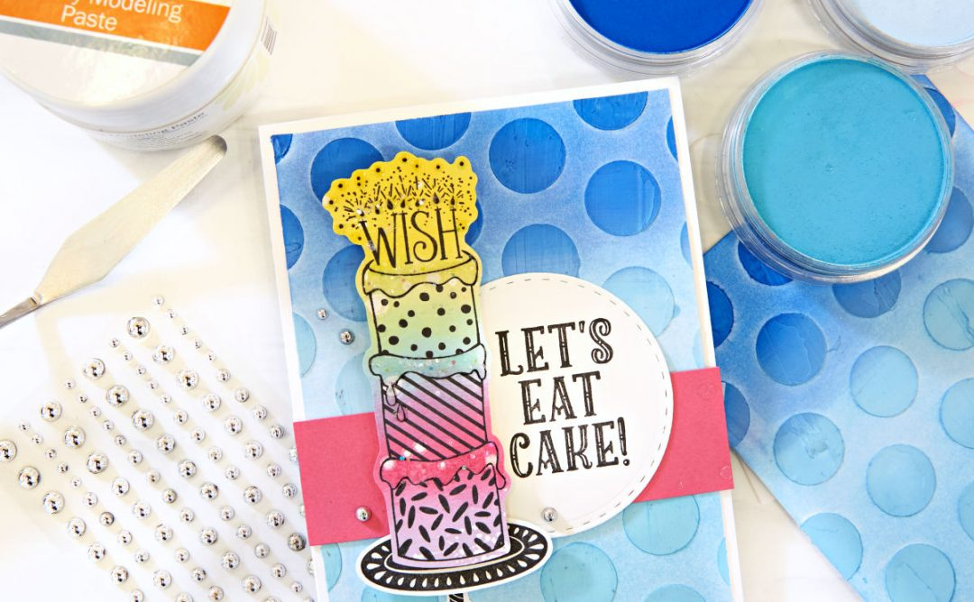 3 Ways to Use Stencils and Modeling Paste on Handmade Cards