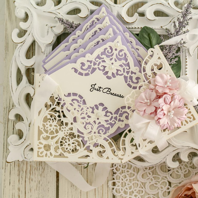 "Spellbinders June 2019 Amazing Paper Grace Die of the Month is Here – Enchanting Battenburg Corners. Designed by our very own Becca Feeken from Amazing Paper Grace this ""Enchanting Battenburg Corners"" die of the month will have you creating gorgeous layered projects in no time! This die set features 6 dies that are perfect for elegant layered projects."
