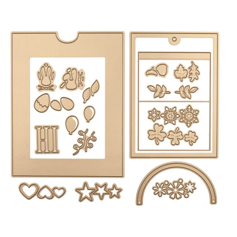 June 2019 Large Die of the Month is Here – Festive Wreath Slider Card. This die set features 21 dies that are perfect for creating seasonal slider pop-up cards and more!