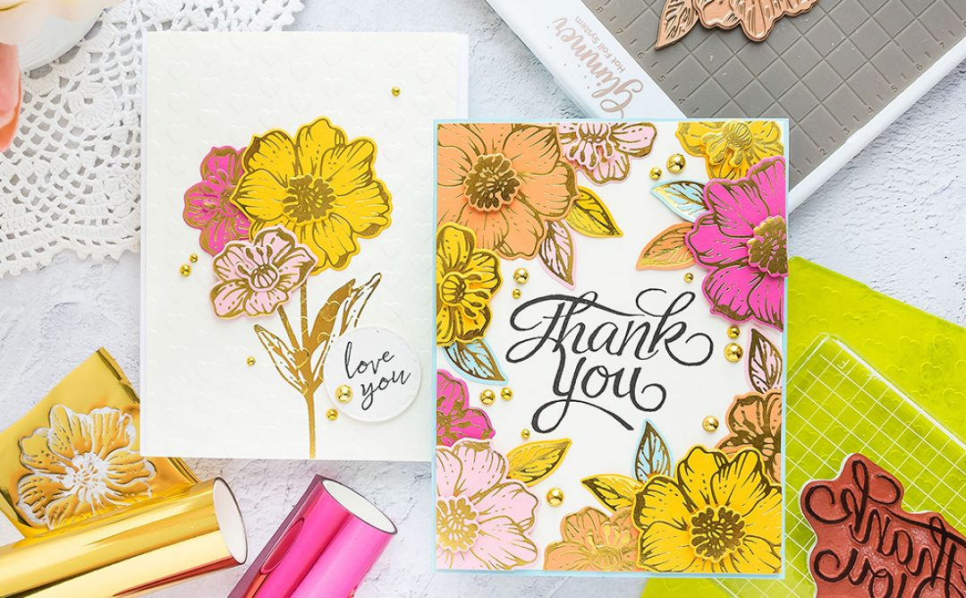 June 2019 Glimmer Hot Foil Kit of the Month is Here – Radiant Flowers