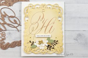 PA Scribe by Paul Antonio Foiled Cards with Nichol Spohr for Spellbinders