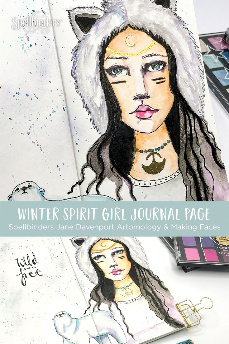 Jane Davenport Artomology | Winter Spirit Girl with Kate Palmer for Spellbinders