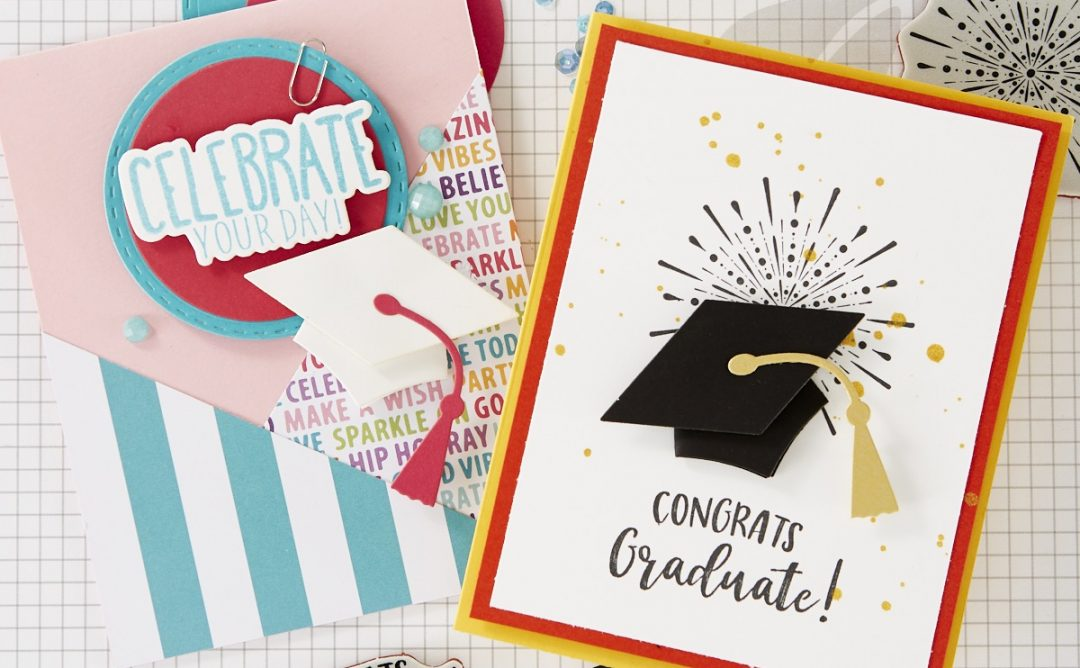 T3: Tools, Tips and Techniques for Festive Graduation Cards