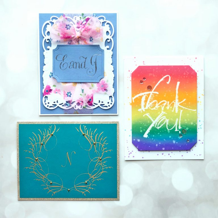PA Scribe by Paul Antonio Inspiration   Foiled Cards with Brenda