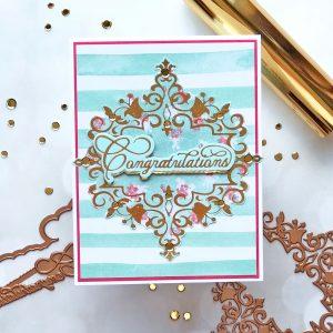 Royal Flourish Inspiration   Foiled Cards with Brenda
