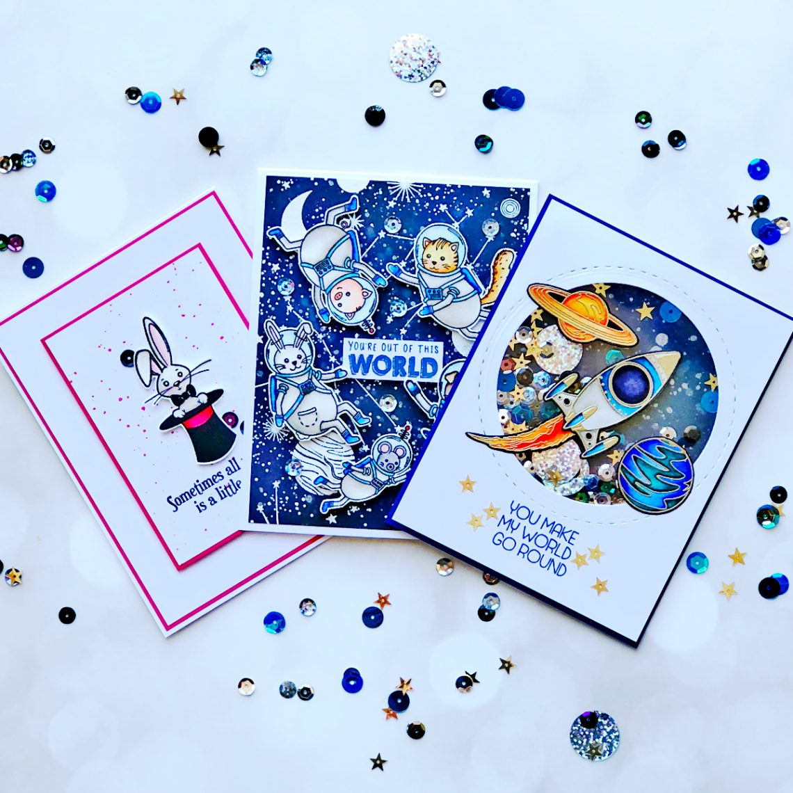 Hello Summer Inspiration   Starry Night Cards with Brenda