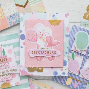 Spellbinders Card Club Kit Extras - Super Chill! June 2019 Edition - You Are Spectacular Card