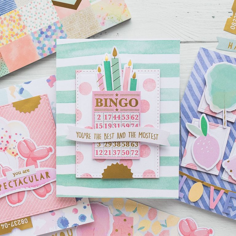 Spellbinders Card Club Kit Extras - Super Chill! June 2019 Edition - You Are The Best and the Mostest Card
