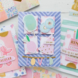 Spellbinders Card Club Kit Extras - Super Chill! June 2019 Edition - You Are Loved Card