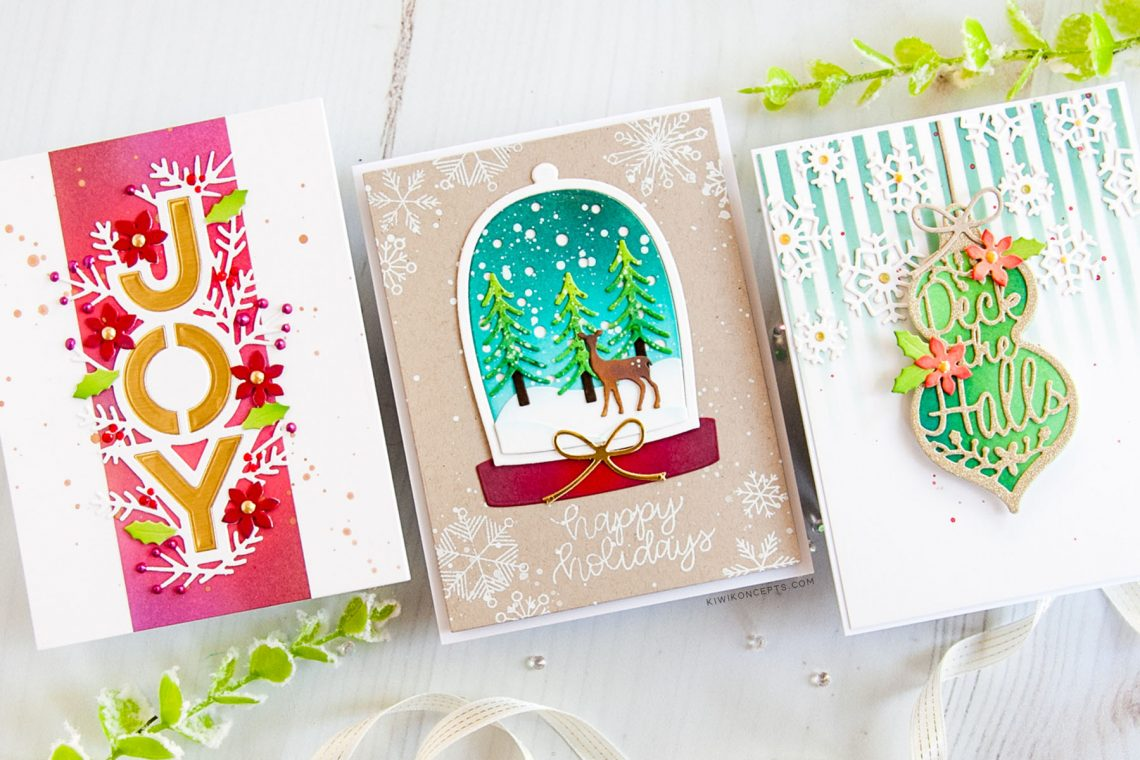 Spellbinders Die D-Lites Holiday 2019 Inspiration | Clean & Simple Christmas Cards with Keeway Tsao
